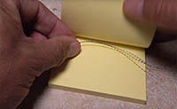 Using a Sticky-Note Pad as a Fly-Tying Tool