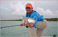 Steve Hemkins with a great bonefish catch.
